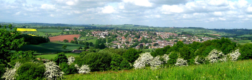 Bromyard And Winslow View Across Countryside